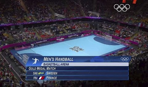 Håndball i London under OL 2012. Slik er håndballdekket som kommer til helgelandshallen.