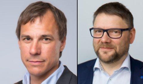 NYTT STYRE: Bjørn Krane (t.v) er valgt som ny styreleder i Sparebank 1 Helgeland. Jonny Berfjord (t.h) er helt ny i styret.
