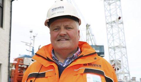 SLIPEN-SJEF: Arnt Jakobsen er fornøyd med at planutvalget har godkjent den foreslåtte utbyggingen av Slipen.