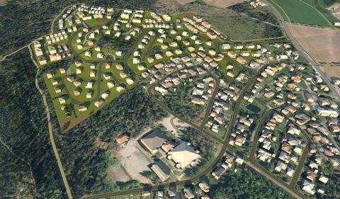 SKAL VOKSE: Algarheim Nord skal bygges ut med 270 boenheter de neste ti-15 årene.