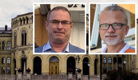 LØVEBAKKEN: Thorleif Fluer Vikre (t.v.) og Geir Elsebutangen er på nominasjonskomiteens valgliste.