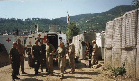Avløsning: Endelig avløsning etter tre måneder i granatregnet i Goražde i Bosnia.