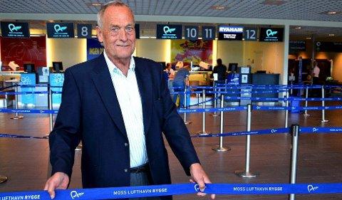 ØNSKER DRIFT: Styreleder Svein Hurlen i RSL ønsker videre drift på Moss lufthavn Rygge, men er klar på at eierne også ønsker å få tilbake penger som er lagt igjen på flyplassen.