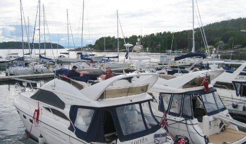 Populær: Son gjestehavn er blant de mest populære i hele Oslofjorden.