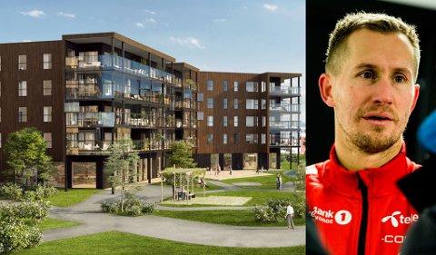 MÅLRABATT: Morten Gamst Pedersen har kjøpt leiligheten som på grafikken er plassert øverst til høyre i bildet. Leilighetens verdi er 11,5 millioner kroner, men 37-åringen kan kutte det ned med 30.000 kroner per scoring i eliteserien i år.