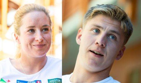 NY HVERDAG: Anna Svendsen og Erik Valnes fotografert under landslagets treningsleir i Frankrike denne uka. Troms-duoen har tatt steget fra Team Nord-Norge opp sammen med den øverste eliten i norsk langrenn.