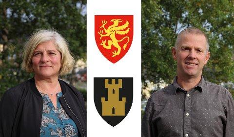 Marianne Pedersen, divisjonsdirektør kultur og levekår og Børre Krudtå, divisjonsdirektør for næring og kompetanse i Troms og Finnmark fylkeskommune