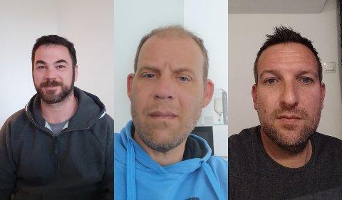 VIL TILBAKE: Industrimekanikerne Ante Petric, Ante Vidulic og Boris Dragojevic vil tilbake på jobb. De har selv tatt bilder til Nordlys, fra sine respektive hjem.