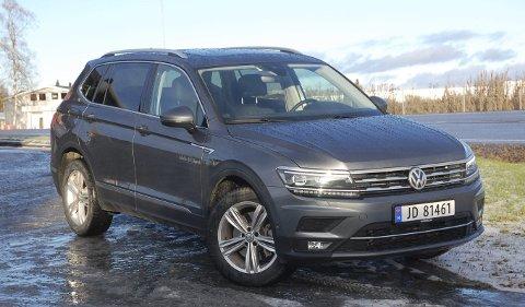 FORSTØRRET: Volkswagen har lagd en større 7-seters utgave av SUVen Tiguan, og skapt en variant man ikke tidligere hadde i sitt brede modellprogram.FOTO: ØYVIN SØRAA