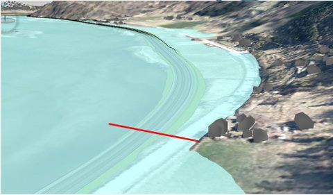 Illustrasjonen viser hvordan dagens godkjente trasé for ny E6 Sjoa-Otta vil ligge ved en 200 års flom; tre meter under vannivå på strekningen Sel sjukeheim-Solhjem.