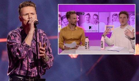 NYE FANS: Parhestene Vegard Harm og Morten Hegseth ble i forkant av fredagens The Voice store Mads-fans og viet mye tid til totningen og skjorta hans i VGTVs «Panelet».
