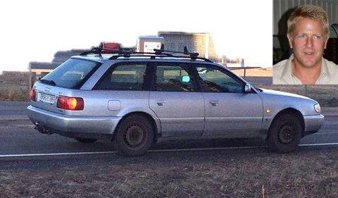 Her ser du savnede Åge Johan Syversen og Audien han kjører. Vennligst kontakt politiet om du ser han eller bilen. Bildet er gjengitt med tillatelse av familien.