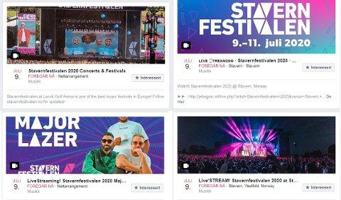 MANGE FORSØK: Det flommer over av digitale arrangementer om Stavernfestivalen i helgen. Alle er svindel.