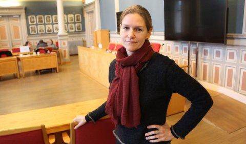 GÅR IMOT: Hilde Forberg Andersen (MDG) er for bygging av nytt veisystem ved Enger og Vallermyrene, men mener man burde droppe utvikling av næringsarealer på eksisterende våtmark.