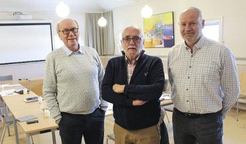 KONTROLLUTVALG: F.v. Karl Erik Høegh, Erik Bystrøm og Henning Yven skal få redegjørelse om oppsigelser på byutvikling. Yven har på forhånd gått tydelig ut og vil ha gransking.