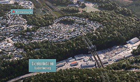 NY MOTORVEI: Ny E18 skal bygges gjennom Porsgrunn.
