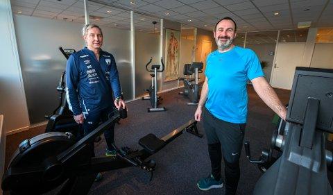 Tidligere Iliaden Fysioterapi & Kiropraktikk har skiftet navn og flyttet til nye lokaler i andre etasje i OBS-bygget. Her er fysioterapeutene Marius Solstrand (f.v.) og Nicolas Vestlund. Helgeland Logopedi er et eget selskap som flytter med, men forblir under egen fane.