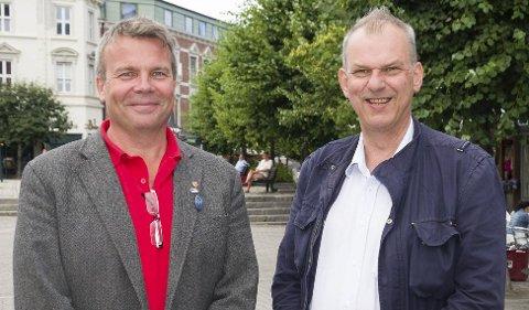 Dag E. Henaug og Runar Johansen lover å ta grep for å rydde opp i eldreomsorgen.