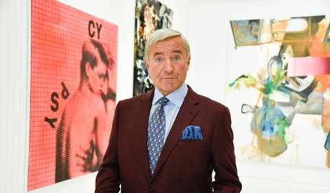 ÅPNET SESONGEN: - Kunst skal begeistre, fascinere og engasjere, sier Christen Sveaas. Han har 800 kunstverk verd en milliard kroner. 33 av dem kan du se på Kistefos i sommer.