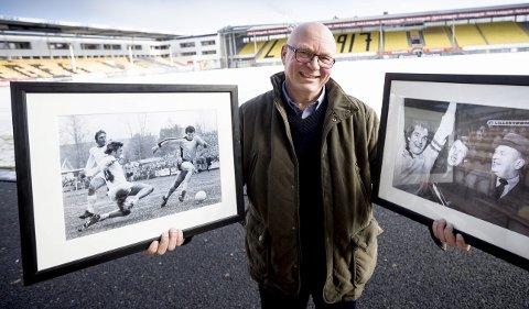 RB-FOTOGRAF: Tore Sannum (58) tilbake på Åråsen. For 40 år siden vant han som 18-åring prisen «Årets sportsfoto».  FOTO: LISBETH ANDRESEN OG PRIVAT