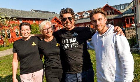 SAMARBEIDER: f.v: Therese Folvik og Heidi Schou fra Konsertkameratene gleder seg til nok en konsertsommer sammen med Edvard Gran og Alexander Vestnes fra Kurbadhagen.