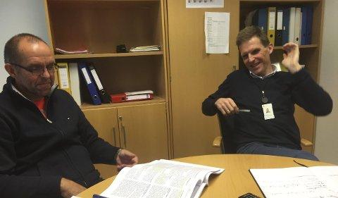 SOM VENTET: Rune Antonsen og Sigmund Vister  fikk et statsbudsjett som ventet. FOTO: PÅL VIKESLAND