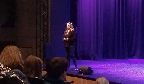 PSYKOLOG: Cathrine Moestue hold foredrag.