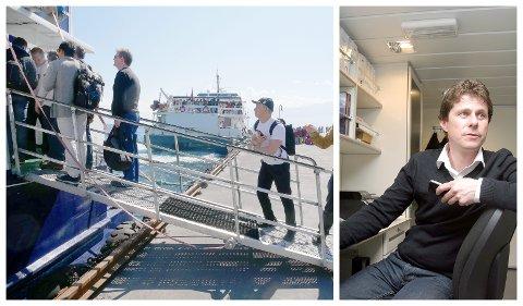 LITEN OPPGANG: – Me ser ein oppgang i trafikken på turistruta, men den er liten, og mindre enn forventa, seier Bjørn Egil Søndenå, sjef for hurtigbåtane i Norled.