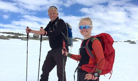 TURGUIDE: Karen Malena Egeland Kyllesø tek med seg morfar Leif Emil Egeland (bildet) og farfar Kristian Vik Kyllesø til Finnmark i helga. Saman skal dei gå over Finnmarksvidda på ski.