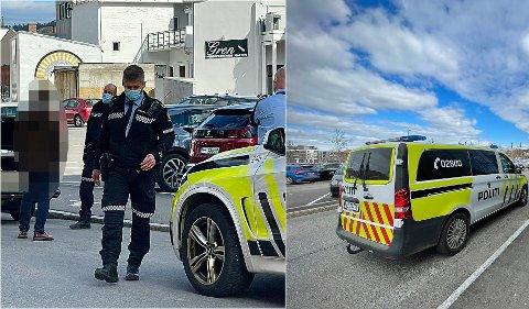 Politiet har hatt flere oppdrag ved eller inne på Down Town onsdag ettermiddag. Bildene i denne collagen er hentet fra de to første.