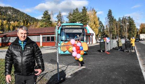 FORTAU: Frode Lunde gikk i bresjen for å bedre trafikksikkerheten rundt Tinnesmoen skole. Han er beviset på at mannen i gata kan få gjort noe hvis man tar initiativ.