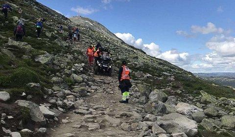 GAUSTATOPPEN: Rjukan og Tinn Røde Kors Hjelpekorps har hatt en travel sommer. Gaustatoppen er stedet der det skjer flest uhell, forteller operasjonsleder, Mats Volland Finnekås. (Alle foto: Rjukan og Tinn Røde Kors Hjelpekorps).