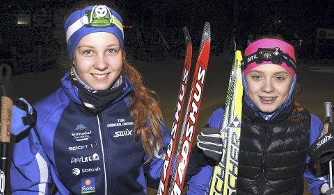 Debut: Stine Fiske og Hedda Aasbø har mål om å hevde seg helt i toppen når midtnorsk mesterskapet i langrenn arrangeres på hjemmebanen på Nordmarka i Surnadal.
