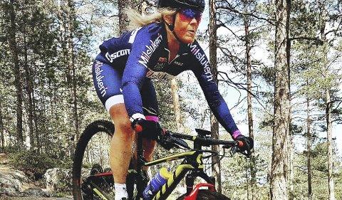 I norgestoppen: Anne Helene Reiten er en av Norges beste i terrengsykling.