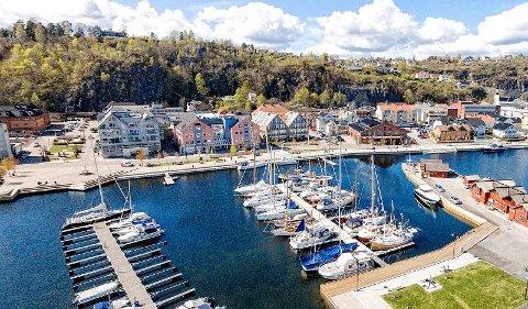 Luftfoto Holmestrand Krana småbåthavna
