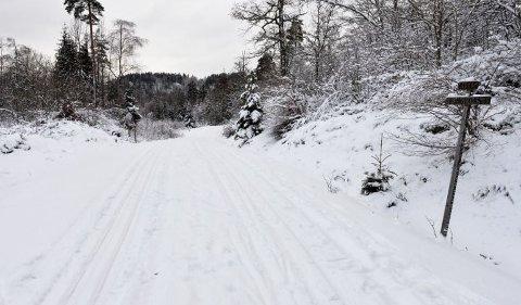 KAN FORSVINNE: Risåsløypene i Re var innbydende forrige uke, men når vinterferien starter kan vi riskikere at snøen er borte.
