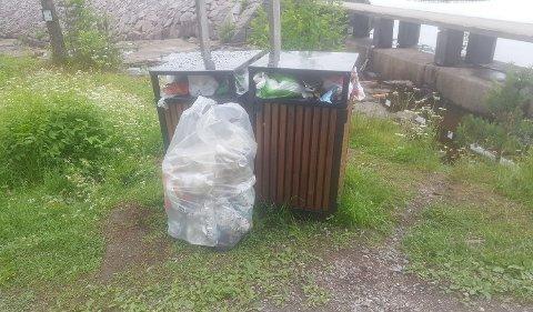 STINTSPANN:Etter søndagens ruskenaksjon ved Ørfiske der hytteboere enkelt fylte en søppelsekk.