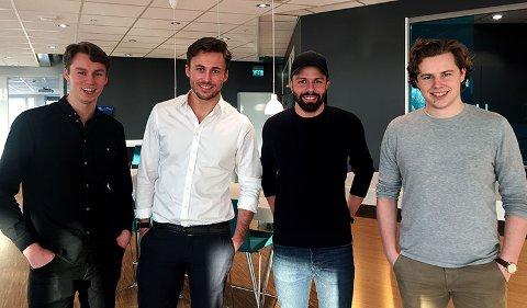 LEARNLINK: Jonas Hyllseth Ryen, Martin Lømo-Hansen Borander, Johannes Berggren og Tellef Tveit.