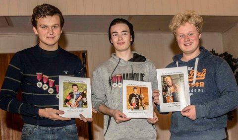 Tre av skytterne i 350-klubben er fra venstre Eirik Strøm, Marius Pung og Amund Gultvedt.