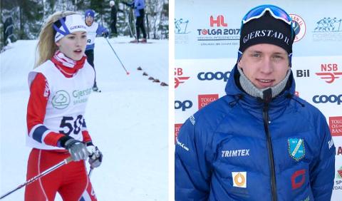 PÅ SKJERMEN: Cecilie Wasler Fone (t.v.) og Magnus Sørbø blir å se på fjernsynet søndag formiddag.