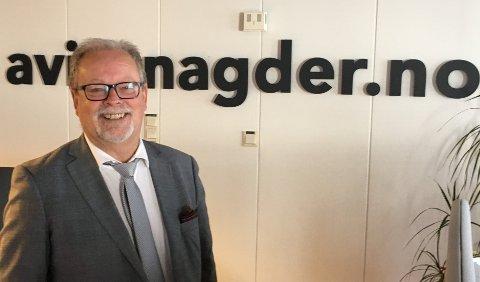 REDAKTØR: Redaktør og daglig leder Kristen Munksgaard i Avisen Agder.