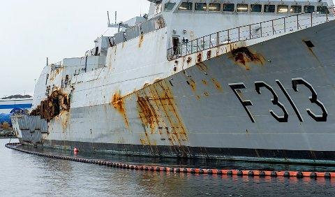 Statensit med ei enorm rekning etter havariet. No krev dei meir pengar frå eigarane av oljetankaren fregatten koliderte med.