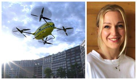 AMBULANSE-DRONE: Slik vil truleg dronen ende opp med å sjå ut. – Vi tar utgangspunkt i 20 kilometer rekkevidd i starten, men vil auke denne etterkvart, seier prosjektleiar i Airlift Solutions, Lise Løvereide.