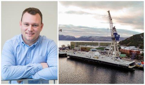 NØGD: Vi har vore gjennom ei tøff tid, men no er vi optimistiske, seier dagleg leiar i New Havyard Ship Technology Erlend Hatleberg.