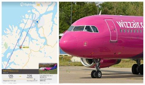 SNUDDE: Wizz Air kjørte opp og ned Oslo-Tromsø-Oslo.