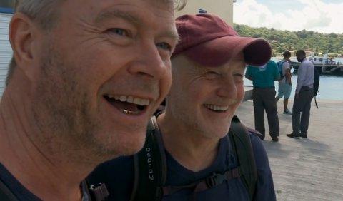 """Skjermknips fra """"Team Bachstad"""" sendt på NRK."""