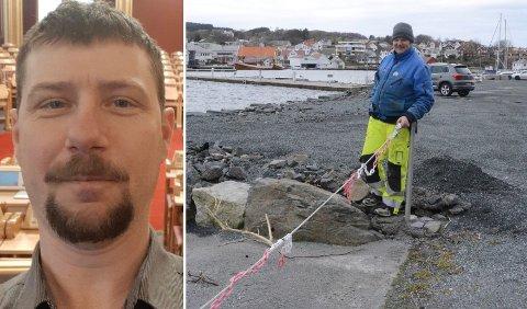 Bobil: Birger Wikre Hetland (Sp), til venstre, stilte spørsmål i Utvalg for miljø og utbygging (UMU) i Stavanger om bobilplasser allerede i januar i år.