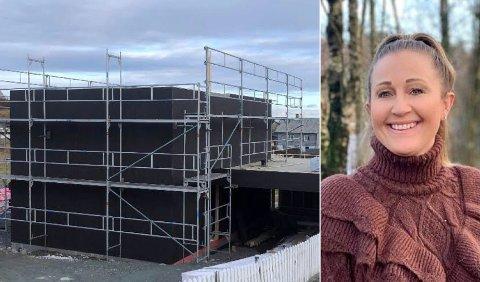 Boligprosjekt: Marita Rønning Ørn ser fram til at hytta på Kvitsøy snart står klar. I framtiden blir det kanskje familiens nye hjem.