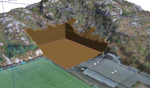Den nye hallen skal byggjast inn i fjellet på nordsida av eksisterande hall, det vil seia i retning Leidlandshagen bustadområde.