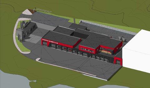 SLIK SKAL DEN SE UT: Brannstasjonen skal bygges i to etasjer og får cirka 2.500 kvadratmeter brutto areal, samt parkeringsarealer og utearealer.
